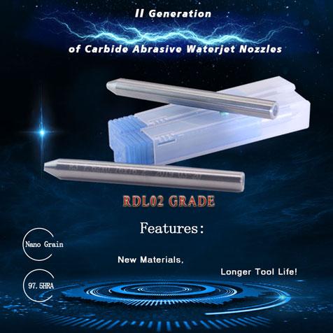 the RDL02 Abrasive Carbide Waterjet Focusing Tubes