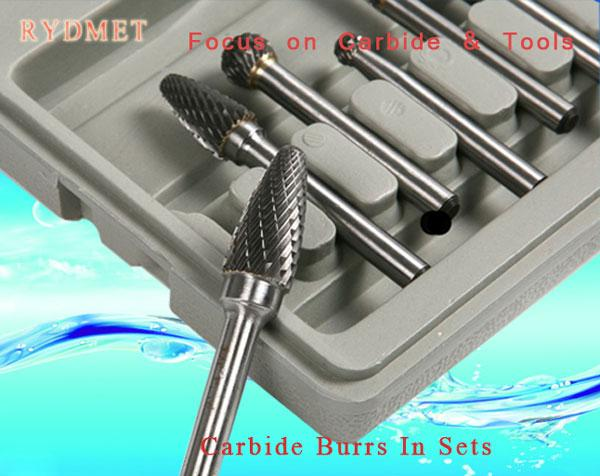 Cemented  Tungsten Carbide Burrs ( Rotary Carbide Files) Sets Kits
